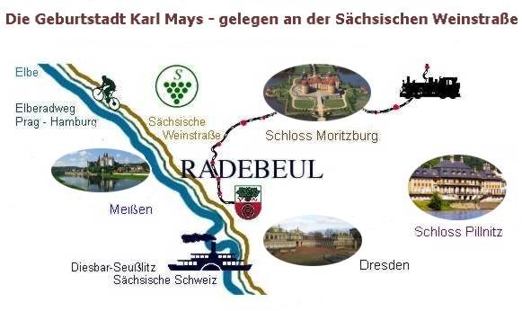 Umgebung Ferienvilla Radebeul